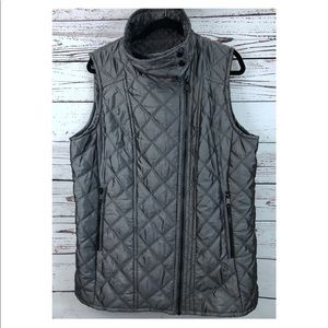 Andrew Marc Gray Quilted Vest